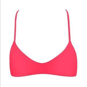 Mikoh Swim - MIKOH Maui Crochet Racerback TOP, Tropical Pink S